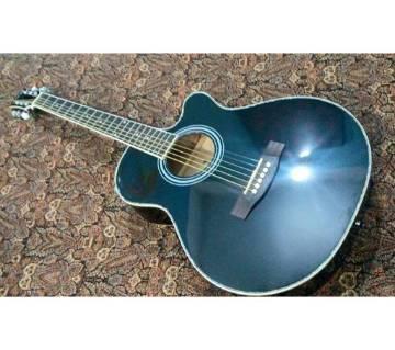 Axe black acoustic guitar