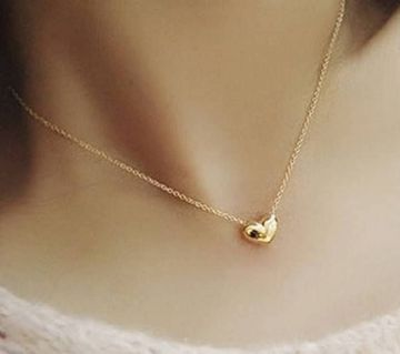 Gold plated heart shaped pendant