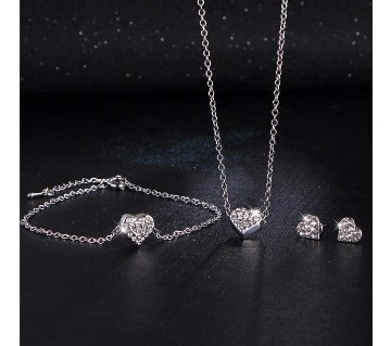 Heart Shaped Zircon jewellery set