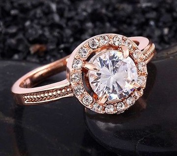 Zircon stone setting finger ring