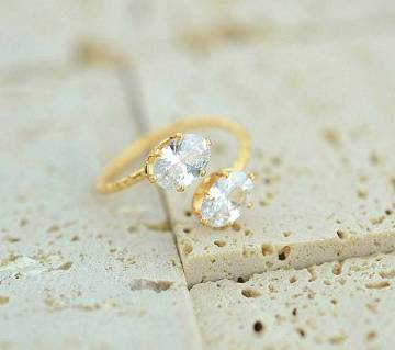 adjustable zircon ring