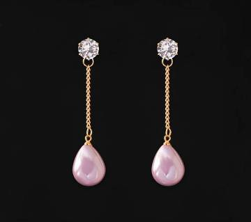 WATER DROP SHAPED STONE SETTING EARRINGS