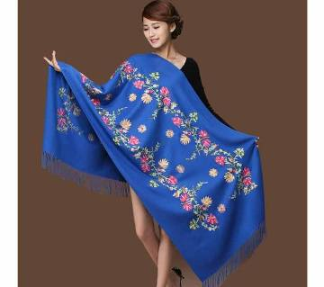Blue Original Indian glamourous kasmiri Shawl for women