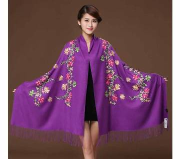 Purple original Acrylic china shawl for women