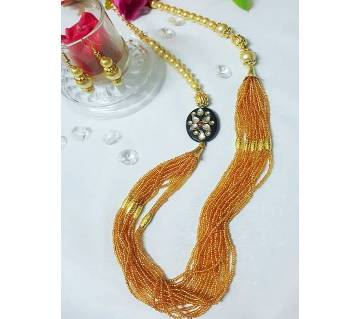 Golden Pearl Necklace Set