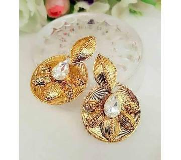Golden Metal Earrings for Women