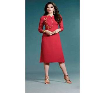 Semi-Stitched Embroidery Georgette Kurti