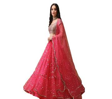 Semi-Stitched Indian Weightless Georgette Embroidery Lehenga Copy