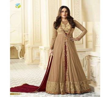 Semi-stitched Embroidery Georgette Gown Copy