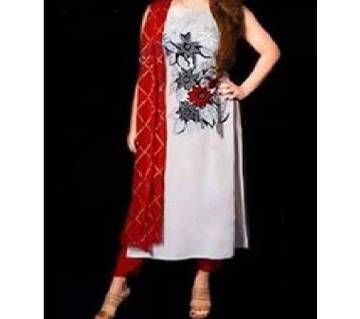 Semi-Stitched Indian Weightless Georgette Embroidery Sallower Kameez