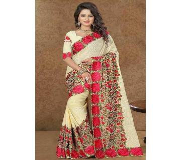 Indian Weightless Georgette Embroidery Saree