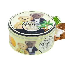 V Food Omais Dear Teddy Coconut Flavor Round Tin Biscuit 150g Thailand
