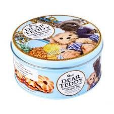V Food Omais Dear Teddy Pineapple Flavor Round Tin Biscuit 150g Thailand