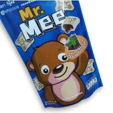 Mr. Mee Pouch Pkt Wafers Chocolate Flavor (12 Pcs) - Thailand