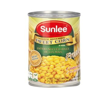 Sunlee Canned Whole Kernel Sweet Corn 410 gm Thailand