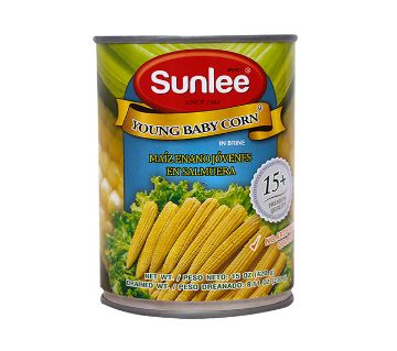 Sunlee Canned Young Baby Corn 420 gm Thailand