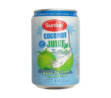 Sunlee Canned Coconut Juice with pulp 310ml Thailand