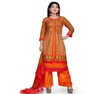 Readymade Embroidery Linen Salwar Kameez