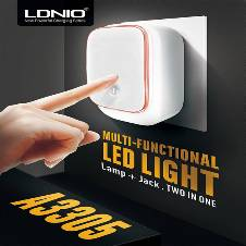 LDNIO 2 in 1 LED Light Touch Lamp USB Port Charger Nigh Light