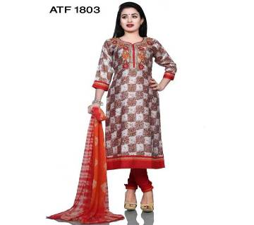 Readymade Embroidered Cotton Salower-Kameez