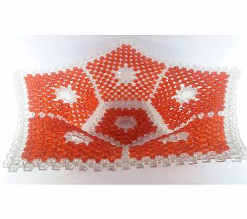 Beaded Basket Star Shaped Show Piece