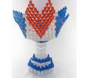 Cup Shape Beaded Basket Show Piece