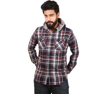 Full-sleeve Shirt With Hoody