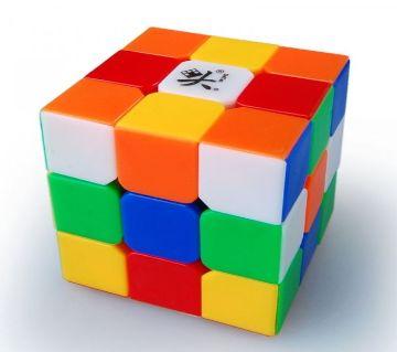 Rubics Cube 3*3 Smooth RC1 Plastic Puzzle - Multi Color