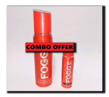 2 COMBO Pack FOGG  Body spray 120ml & 25ml (India)