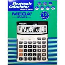 MEGA MG-9025 ইলেক্ট্রনিক ক্যালকুলেটর (12 ডিজিট) - হোয়াইট