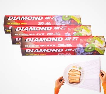 """DIAMOND PE STRETCH cling film food packing wrap (200FT/60"""")"""