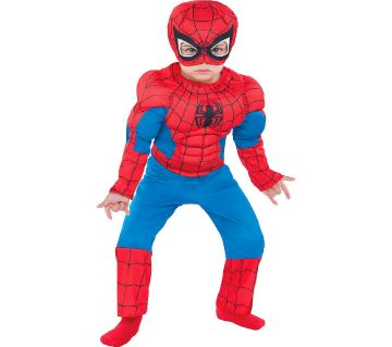Spiderman Dress - Multi-color