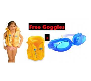 Intex pool swim vest with FREE goggles