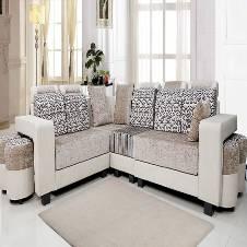 Modern Design Leather & Fabric sofa