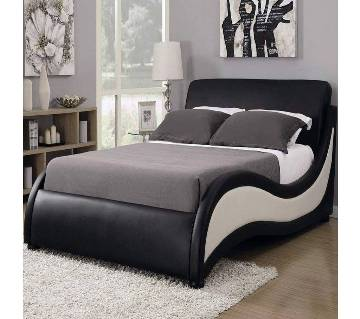 Modern Design Leather Fabric Double Bed