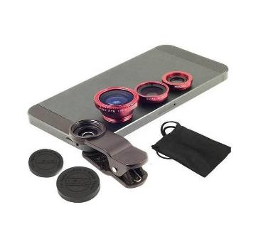 Mobile Camera Lens For Any Mobile - Red and Black
