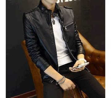 Menz Full Sleeve PU Leather Jacket
