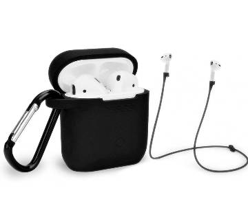 Strap Holder And Silicon Case Cover For APPLE AIRPODS