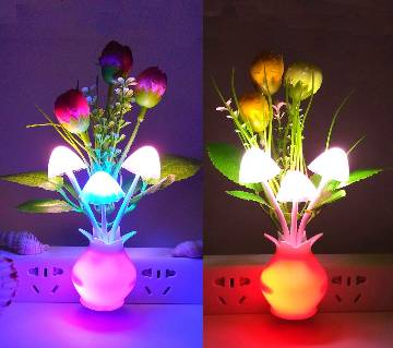 LED Mushroom Night Light Lamp - Multi Color
