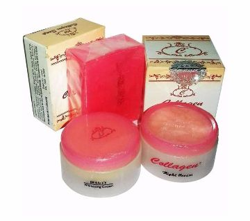 Collagen day cream and night cream with soap (whitening) malaysia