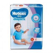 Huggies Dry ডায়াপার (L) 8-13kg 60Pcs - মালয়েশিয়া