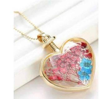Heart Shape Real Flower Locket