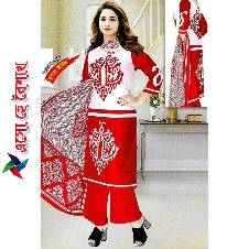 Unstitched Cotton salwar kameez