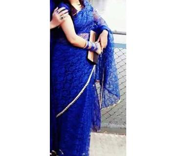 indian Soft Net Saree + Blouse piece