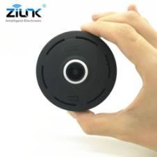 360 Degree Panoramic Wide Angle MINI Cctv Camera V380 Smart IP Camera Wireless Fisheye Lens 1080P Security Home Wifi IP Camera Black
