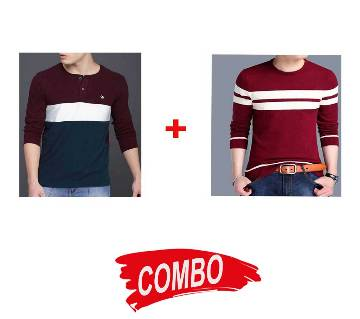 Gents Full Sleeve Cotton T-Shirt + Gents Full Sleeve Cotton Sweater Combo Offer