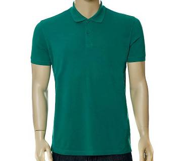 Mens Solid Color Polo Shirt