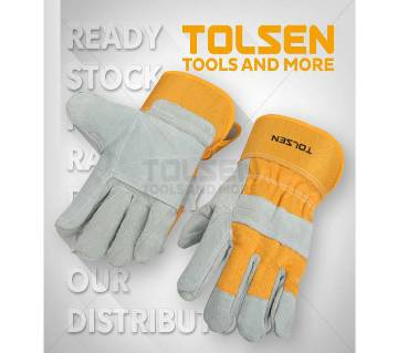 Tolsen লেদার ওয়ার্কিং গ্লাভস 10(XL) -1 pair