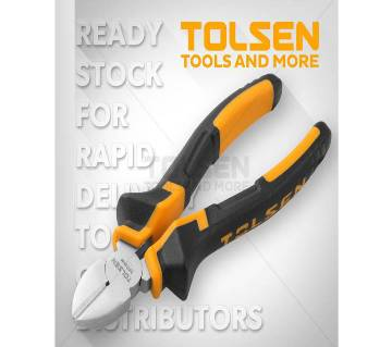 "Tolsen Diagonal Cutting Pliers (7"") 10004 TPR Handle"
