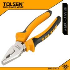 "Tolsen Combination Pliers (7"") 10001 TPR Handle"